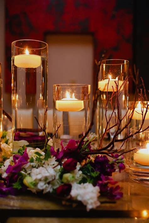 floating candles centerpiece wedloft love candles