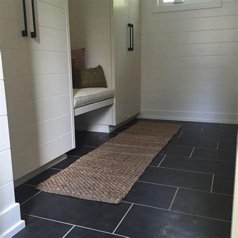 Grid Tile Flooring In Bathroom  Degraaf Interiors