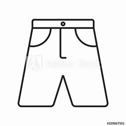 Shorts Outline Stroke Icon Comp Contents Similar