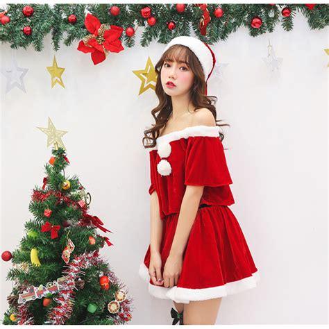 women s sexy santa s velet skirt sets christmas costume