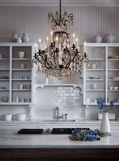 kitchen with fabulous chandelier kitchen ideas