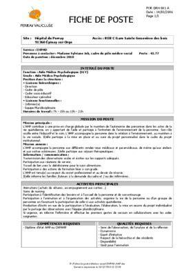 fiche de poste lingaire en ehpad pdf notice manuel d utilisation