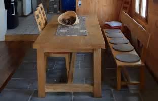 table de cuisine en bois massif île bois marine
