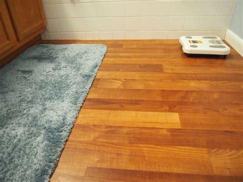 bathroom linoleum flooring replacement project