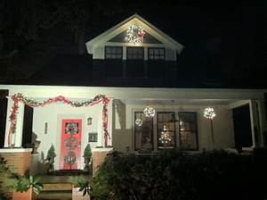 Holiday Exterior Lights with Before and After Grays