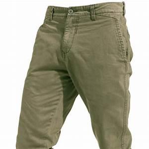 Blend Pantalon Aspect Chino De Couleur Kaki