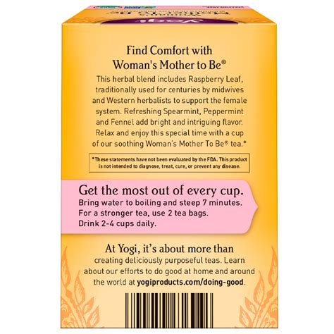 Yogi Tea Womans Mother To Be Caffeine Free 16 Tea Bags
