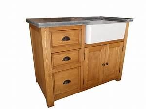 meuble evier de cuisine en pin With meuble sous evier bois massif