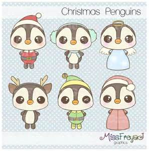 penguin baby shower weihnachten pinguine chibi kawaii digital clip