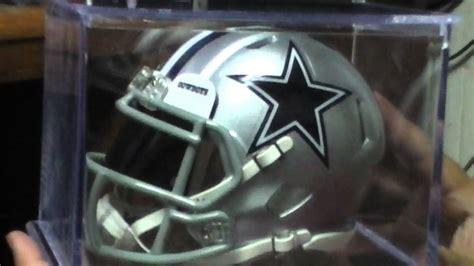 showing  riddell mini speed helmet dallas cowboy