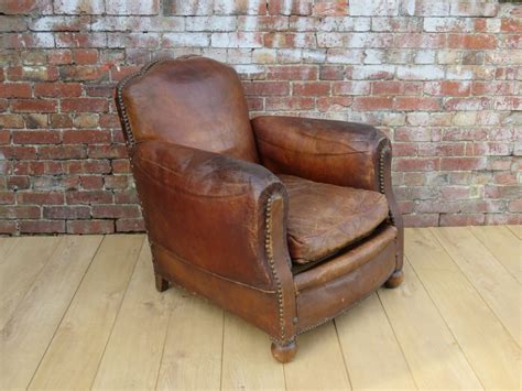 Art Deco Leather Studded Club Chair