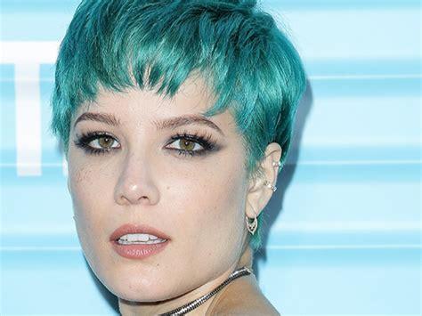 Blue Hair Wiki by Image Halsey Debuts Blue Hair Ftr Jpg Just Wiki