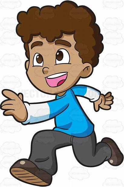 Running Boy Clipart Cartoon Run Child Runner