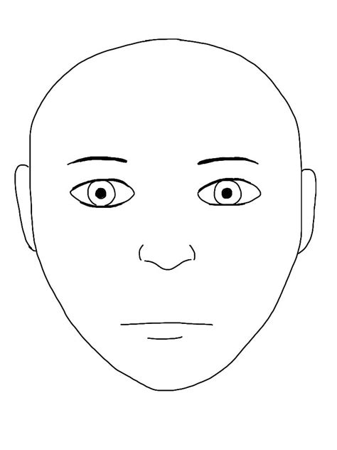 blank face outline drawing drawings art gallery