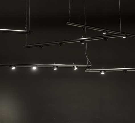 suspension  spots calabrone noir led dimmable lcm martinelli luce luminaires nedgis