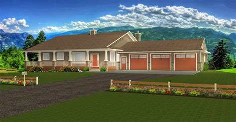 Plan 2017118 Ranch Style Bungalow with Walkout Basement