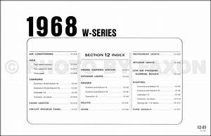 1968 Ford W1000 And Wt1000 Big Truck Wiring Diagram Original