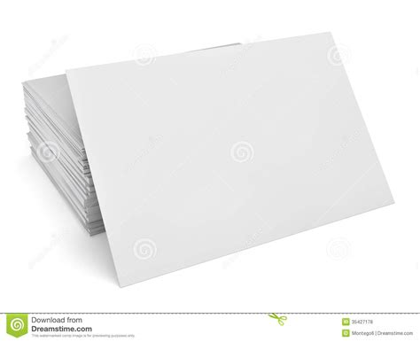 free blank business card blank business cards stock illustration image of message 35427178