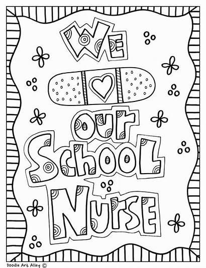 Nurse Coloring Pages Appreciation Doodles Nurses Week