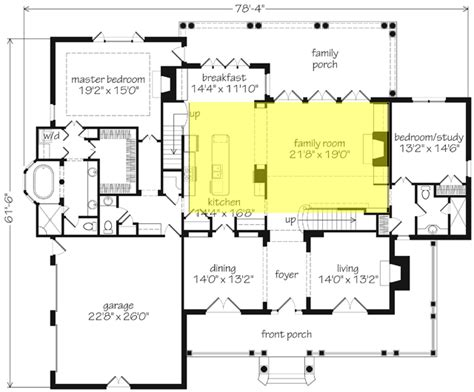 great room house plans one house plans with two family rooms home deco plans