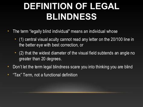 definition of legally blind tools helping visual impairment low vision and macular