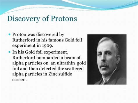 Discovery Of Proton by Structure Of An Atom