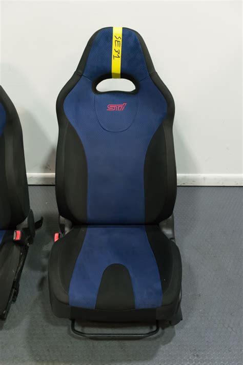 clean jdm impreza wrx sti version  blue  black seats