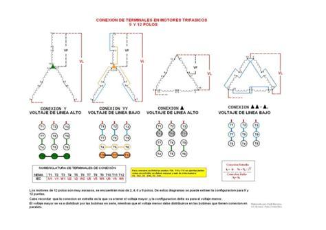 conexion de terminales en motores mono y trifasico