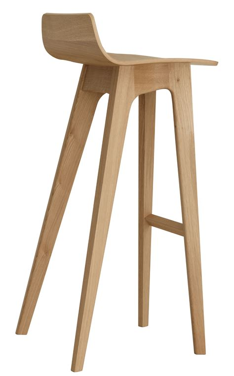 Tabouret De Bar En Bois Tabouret De Bar Morph Bois H 80 Cm Ch 234 Ne Naturel Zeitraum Made In Design