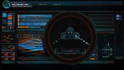 Sci Fi Spaceship Ui Digital Control Shuttle