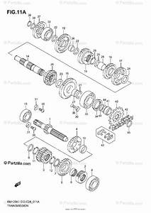 Suzuki Motorcycle 2004 Oem Parts Diagram For Transmission