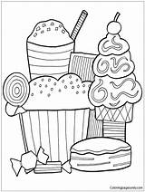 Dessert Pages Coloring Contest sketch template