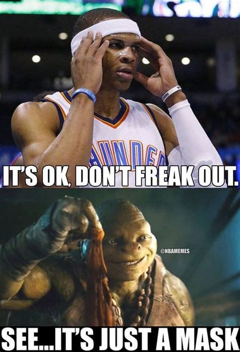 Russell Westbrook Meme - don t worry guys russell westbrook is still human thunder http nbafunnymeme com nba memes