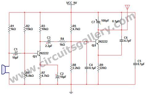 Simple Short Range Portable Transmitter Circuit Diagram