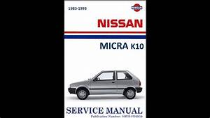 Workshop Manual Nissan Micra K10    Manual De Taller Nissan