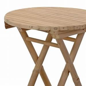 Table Pliante D Appoint : table d 39 appoint pliante bambou ronde meuble d 39 appoint ~ Melissatoandfro.com Idées de Décoration