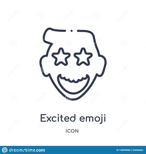 excited emoticon vector illustration cartoondealercom