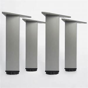 Pied Pour Meuble Salle De Bain : lot de pieds pour meubles carrs en mm with pied de meuble ~ Dailycaller-alerts.com Idées de Décoration