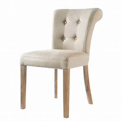 Chaise Jardin Maison Du Monde : chaise capitonn e en lin cru boudoir maisons du monde ~ Premium-room.com Idées de Décoration