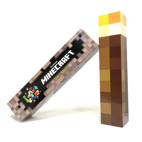 minecraft light up torch lite wall mount held
