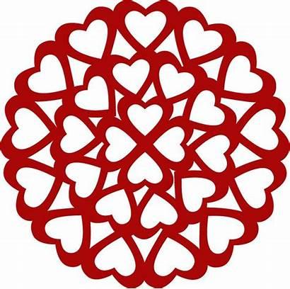 Svg Silhouette Hearts Heart Cut Cameo Stencil