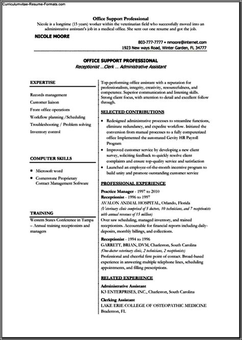 Usc Resume by Usc Resume Template Free Sles Exles Format