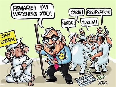 Indian Election Says Cartoonist