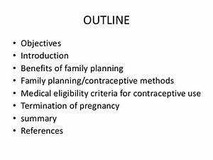 Family planning and contraceptive