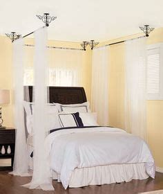 25 best ideas about curtain rod canopy on