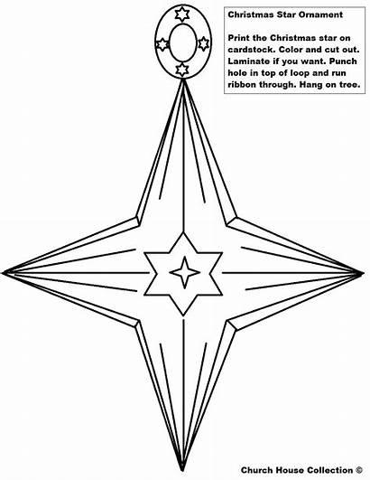 Christmas Printable Ornament Cutouts Star Ornaments Cutout