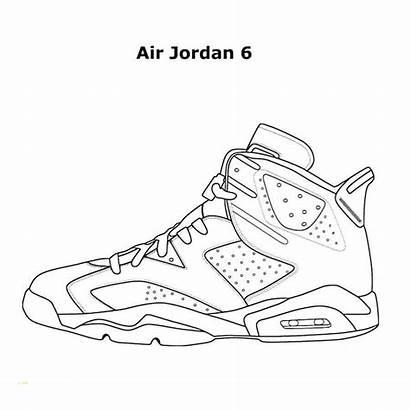 Jordan Coloring Pages Air Shoes Nike Jordans