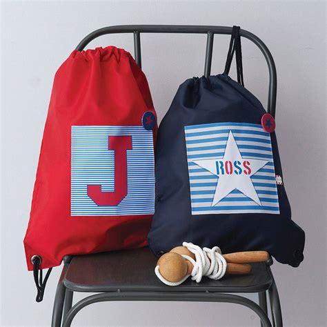 boys personalised waterproof kit bag  tilliemint