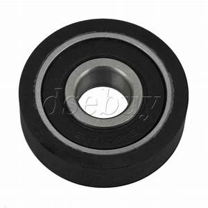 Soft Rubber Guide Bearing Pulley 12x38x10mm Less Noise