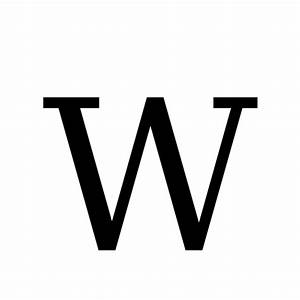 W | latin capital letter w | DejaVu Serif, Book @ Graphemica